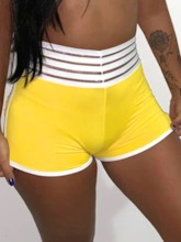 Pockets Stripe Breathable Women's Sports Shorts