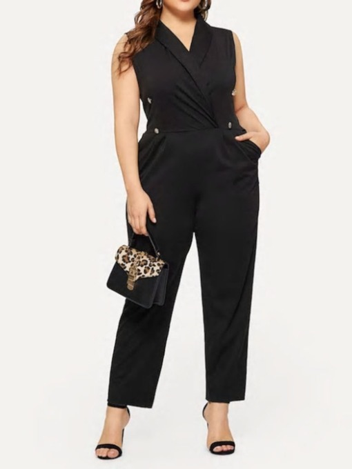 Ankle Length Plain Western Straight Women's Jumpsuit