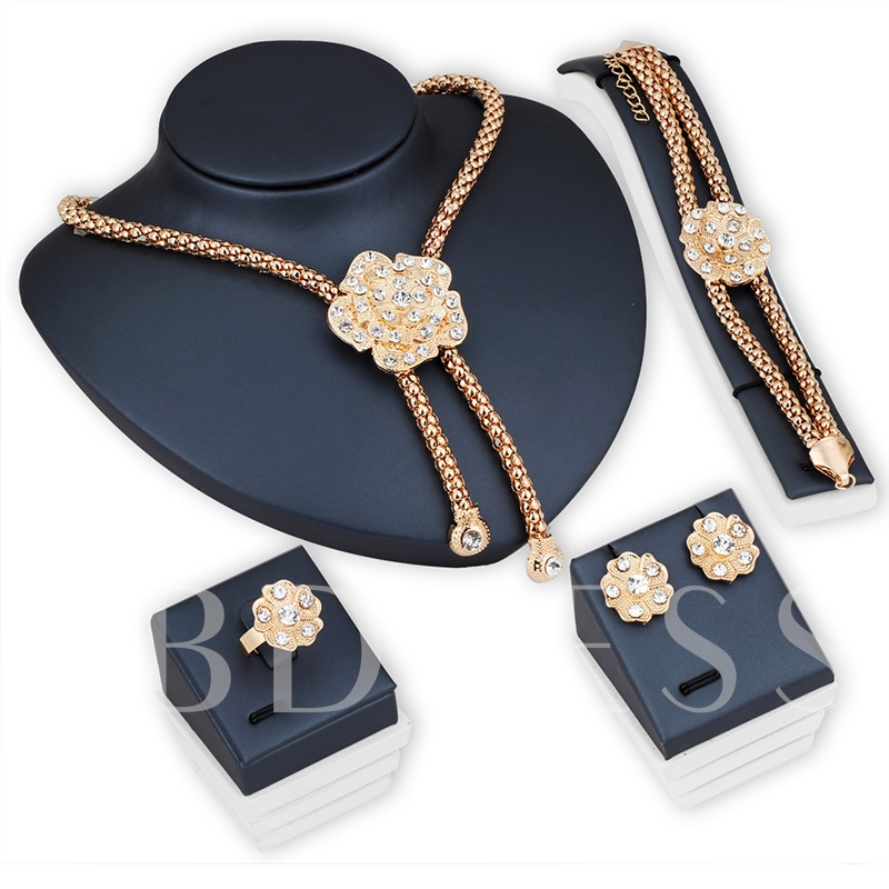 European Floral Ring Necklace Jewelry Sets (Wedding)