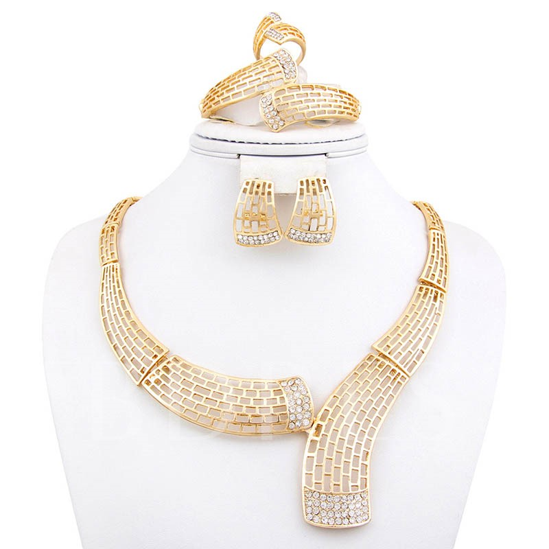 Plain Necklace European Birthday Jewelry Sets