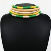 Nigerian Color Block Multi-Layer Jewelry Sets
