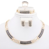 Ethnic African Gold Nigerian 4 Piece Jewelry Sets