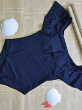 One Piece Sexy Plain Women's Swimwear