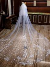 Appliques Cathedral Wedding Veil 2019