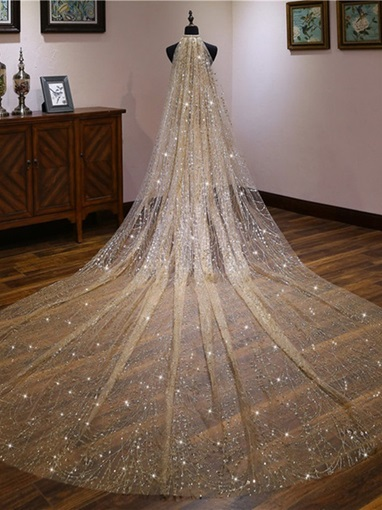 One-Layer Tulle Wedding Veil