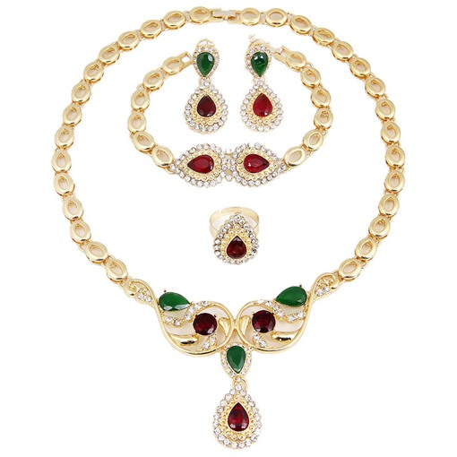 Fashion Nigerian Water Drop Crystal Jewelry Sets