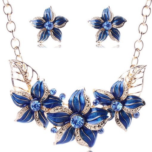 Necklace Floral Sweet Engagement Jewelry Sets