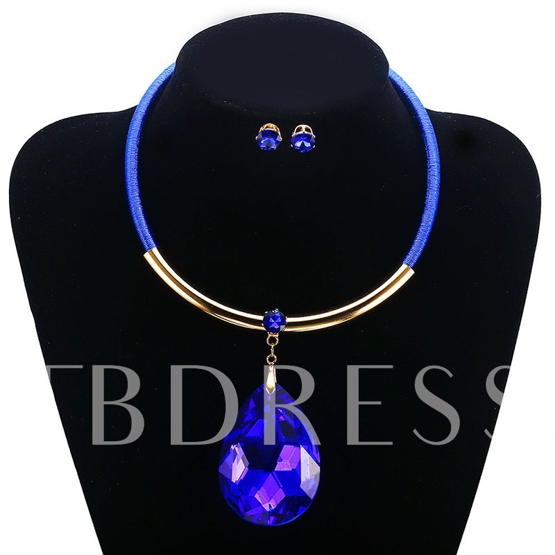 Nigerian Gemstone Prom Jewelry Sets for Women