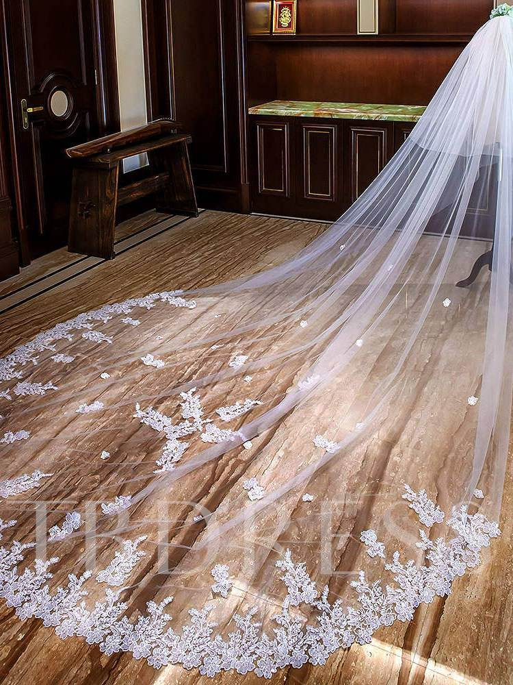 Sequins Appliques Cathedral Wedding Veil 2019
