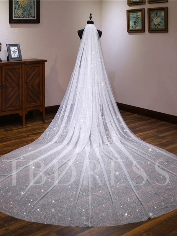 Sequins Tulle Wedding Veil 2019