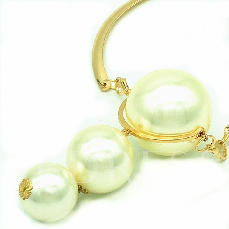 Plain Pearl Inlaid European Birthday Jewelry Sets