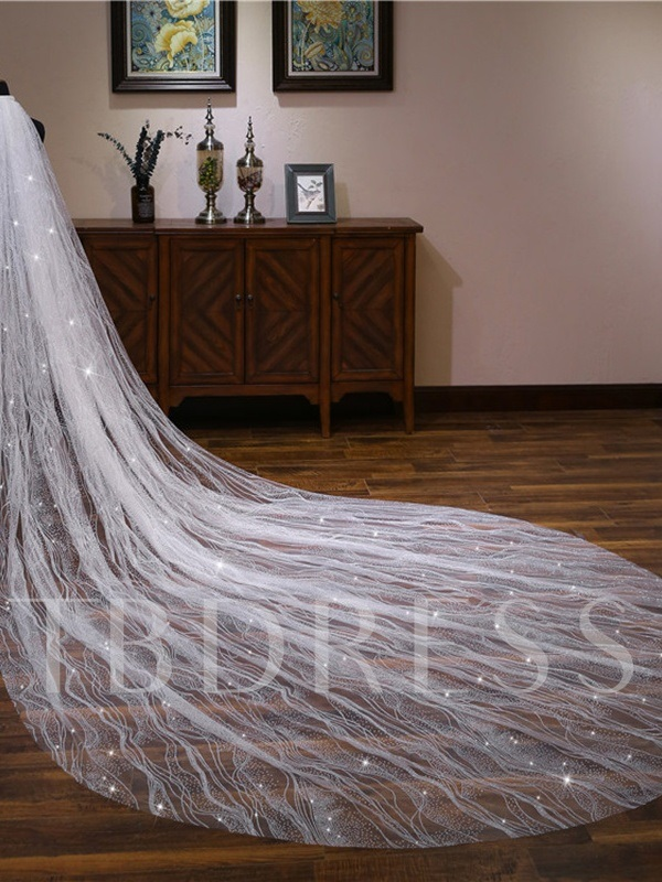 Sequins Cathedral Wedding Veil 2019