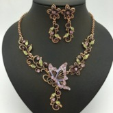 African Floral Shape Vintage Party Jewelry Set