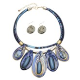 Colored Gemstone Peadant Party Jewelry Set