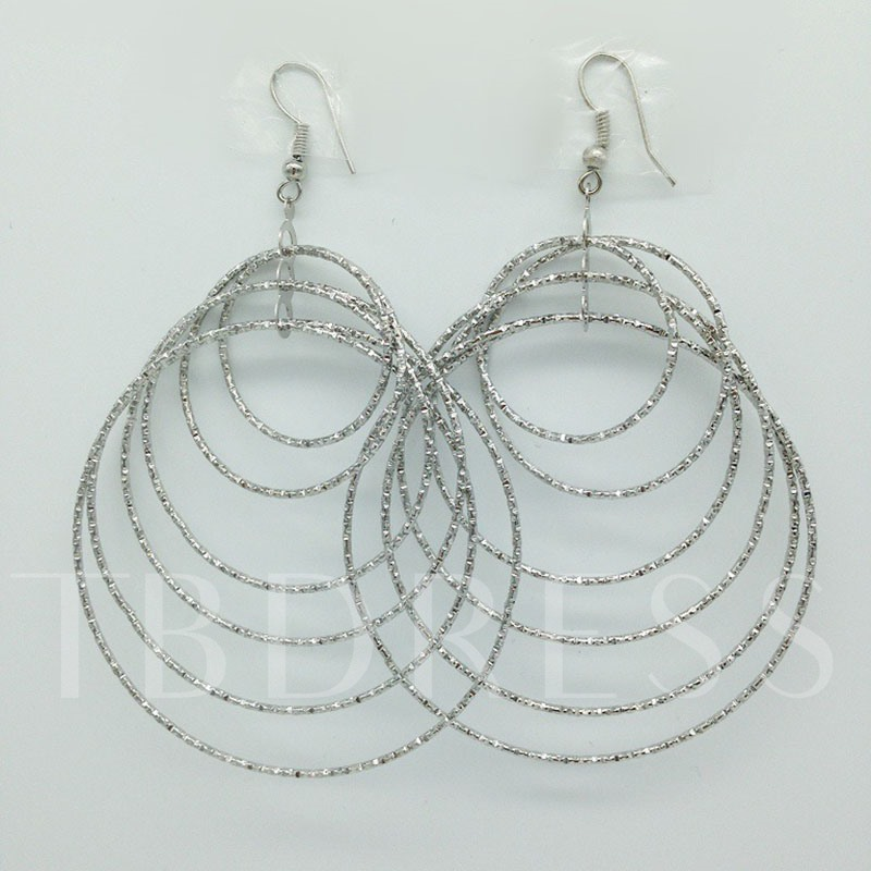 Plain European Alloy Birthday Earrings