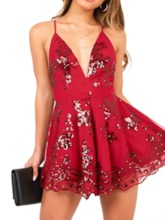 Shorts Office Lady Lace Floral Loose Women's Romper