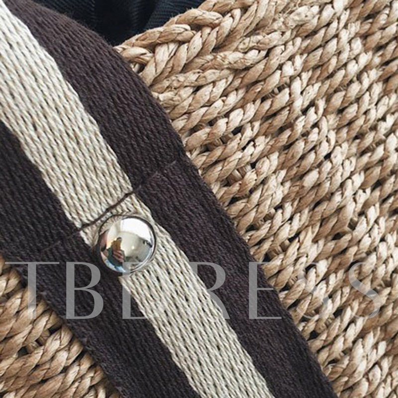 Grass Knitted Square Tote Bags