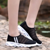 Hollow Round Toe Slip-On Low-Cut Upper Women's Sneakers