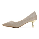 Female Sequin Thin Shoes Cloth Stiletto Heel Wedding Shoes