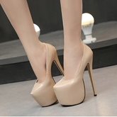 Female Stiletto Heel Round Toe Thin Shoes High Heel Wedding Shoes