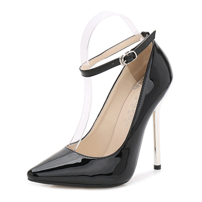 Female Ultra-High Heel Thin Shoes PU Pointed Toe Wedding Shoes Female Ultra-High Heel Thin Shoes PU Pointed Toe Wedding Shoes