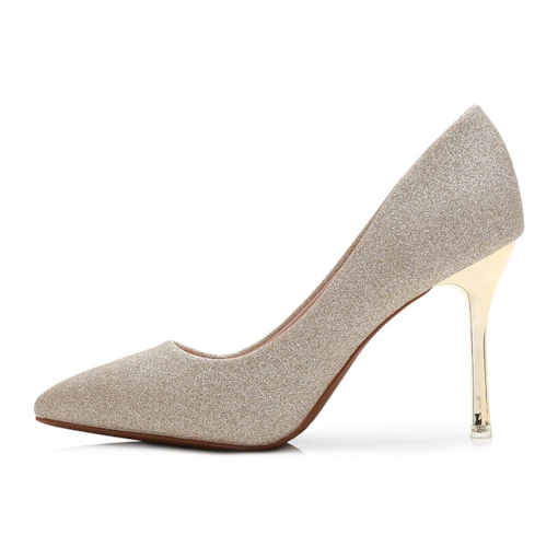 Female Ultra-High Heel Stiletto Heel Thin Shoes PU Wedding Shoes