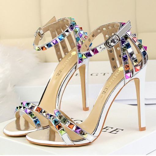 Stiletto Heel Buckle Open Toe Heel Covering Women's Sandals