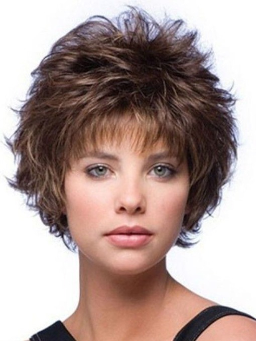 Women's Wavy Synthetic Hair Wigs Lace Front Cap Wigs 14inch