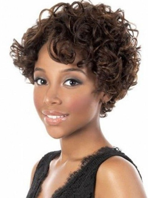 Fashionable Women's Big Curl Capless Synthetic Hair Wigs 12inch