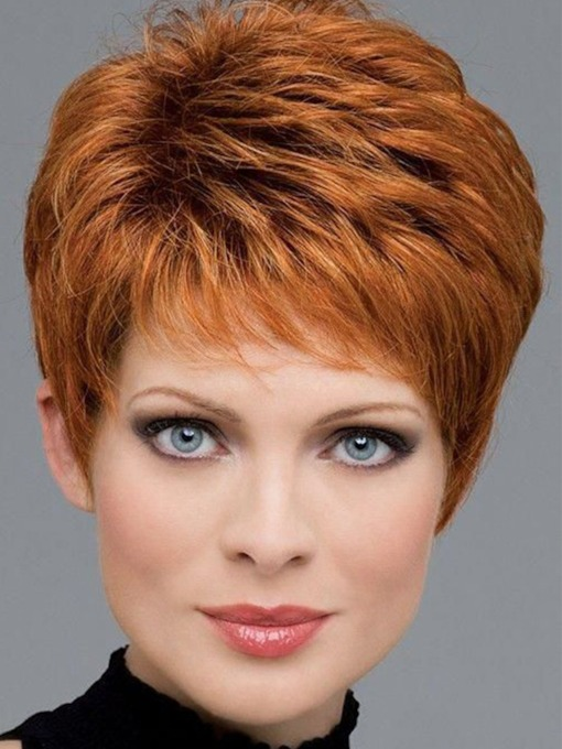 Fashion Brown Color Women's Synthetic Hair Wigs Lace Front Wigs 12 inch