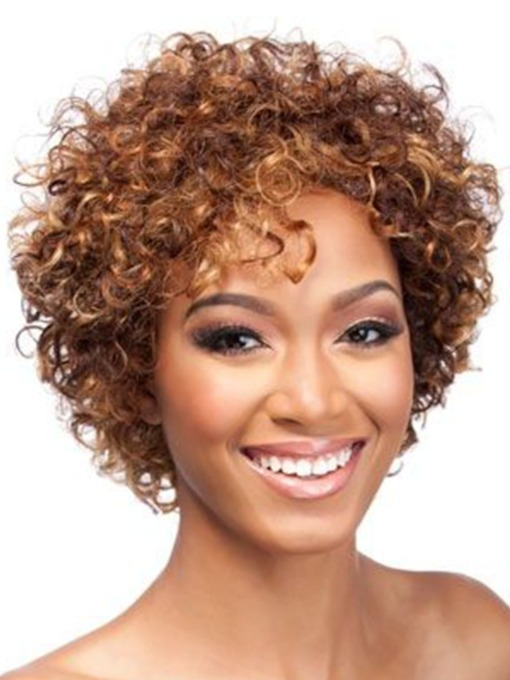 Fancy Funny Short Fluffy Afro Wigs Synthetic Hair Capless Wigs 14inch