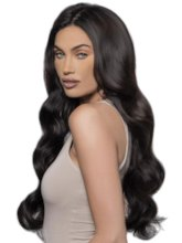 150% Density Women's Body Wave Long Thick Synthetic Hair Lace Front Wigs 24Inches