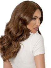 150% Density Women's Brown Color Long Wavy Synthetic Hair Lace Front Wigs 20inch