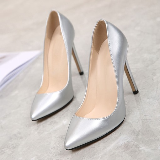 Stiletto Heel Pointed Toe Slip-On OL Pumps