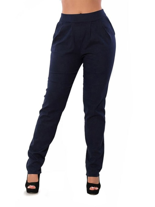 Ankle Length Plain Slim Women's Casual Pants