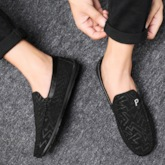 Low-Cut Upper Slip-On Letter Round Toe Men's Loafers