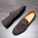 Low-Cut Upper Slip-On Plain Round Toe Men's Dress Shoes