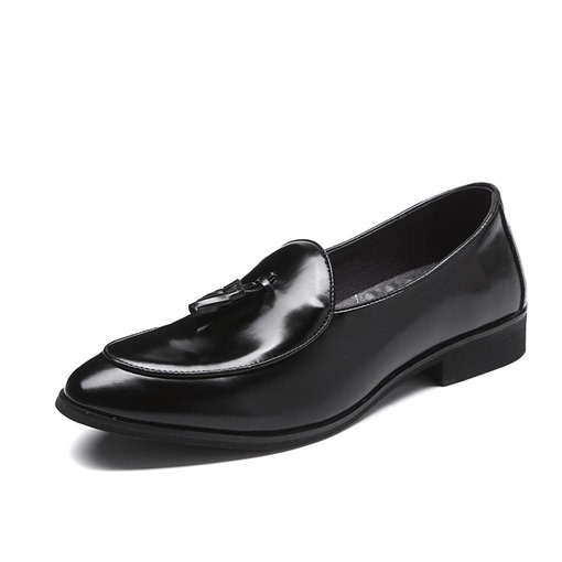 Slip-On Tassel Pointed Toe Men's Dress Shoes