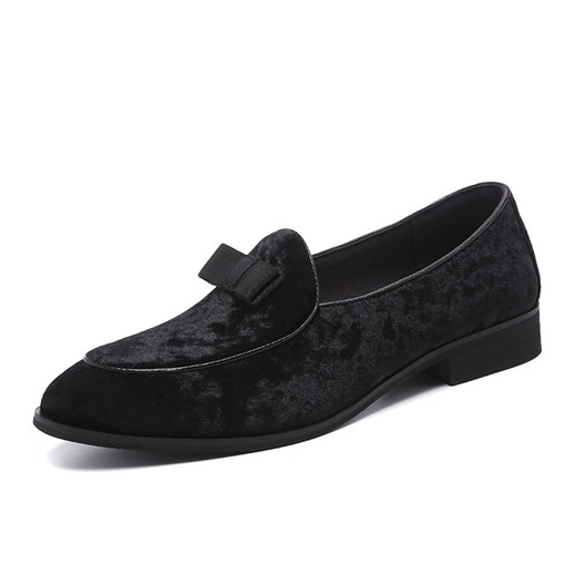 Slip-On Nubuck Leather Men's Dress Shoes