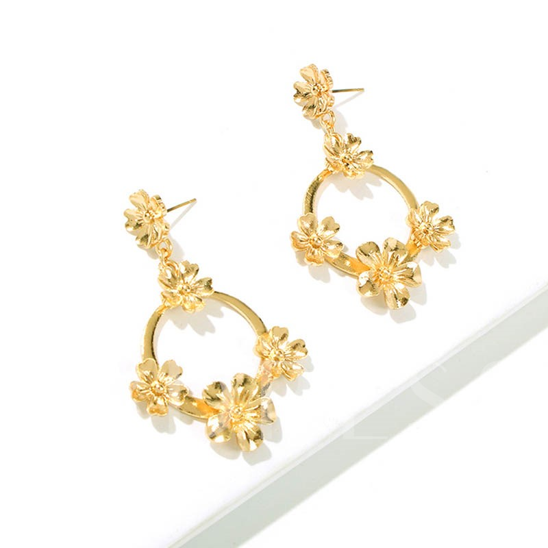 European Alloy Floral Party Earrings
