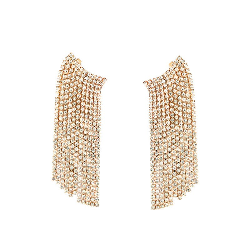 Tassel Diamante Alloy Party Earrings