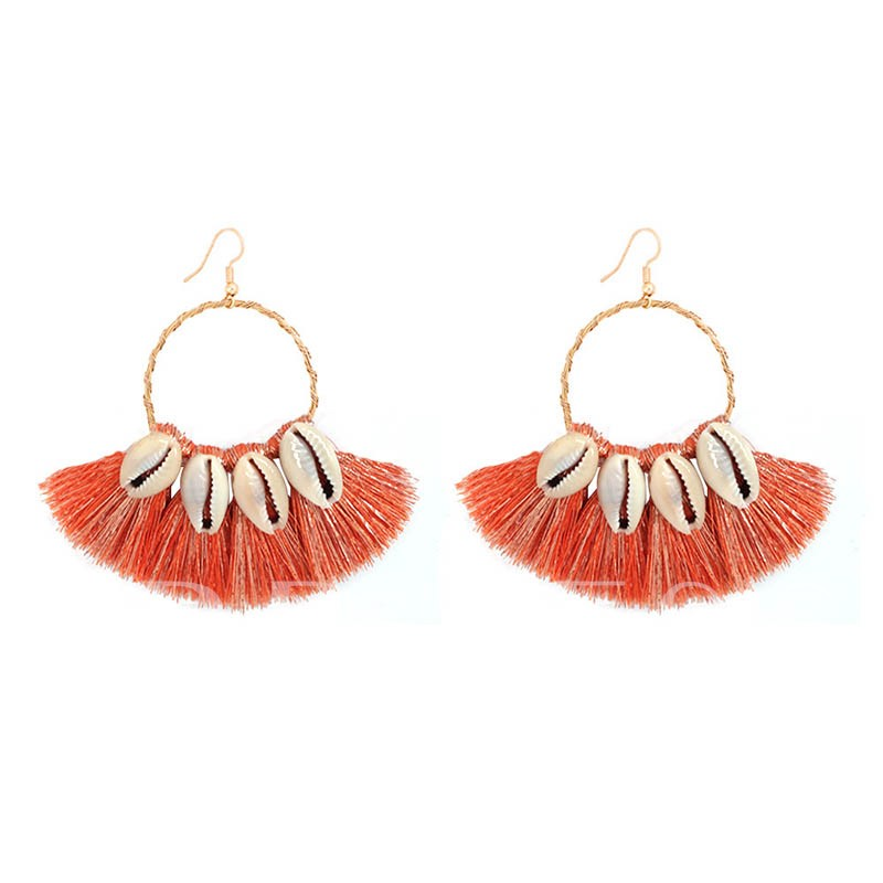 Bohemian Alloy Tassel Party Earrings
