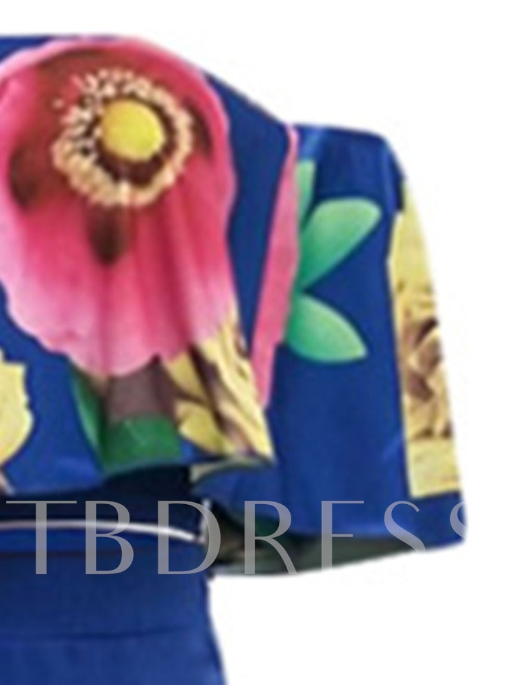 Floral Western Print T-Shirt Pullover Women's Two Piece Sets