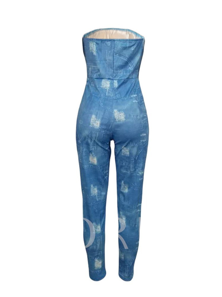 Western Ankle Length Print Skinny Women's Jumpsuit