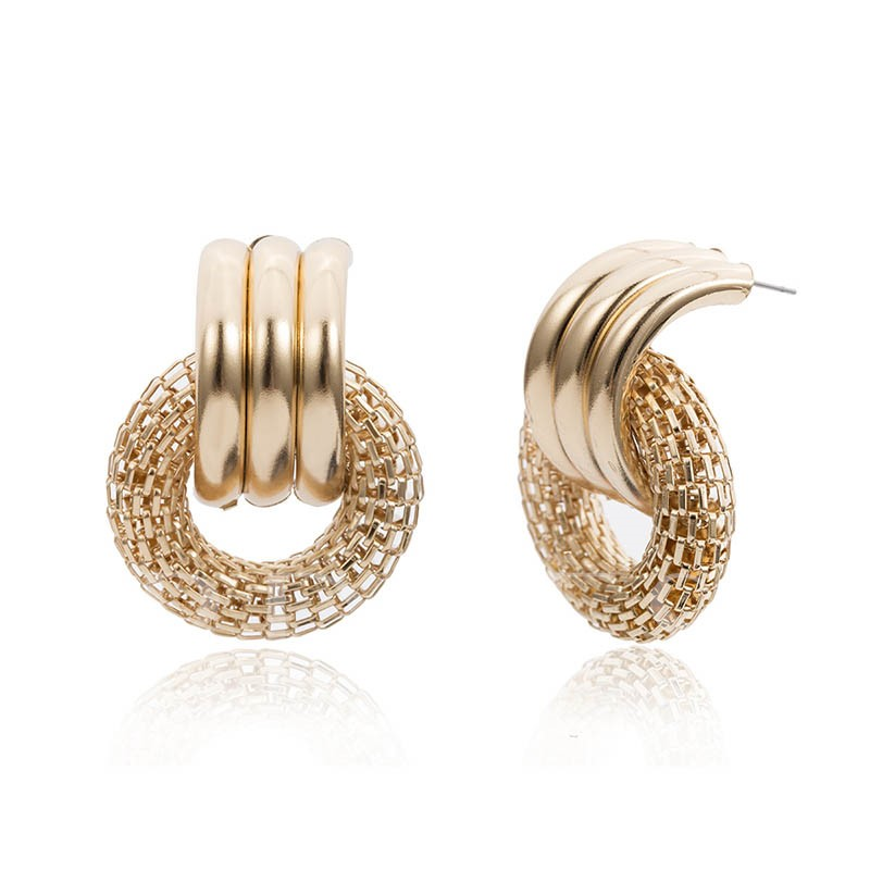 Plain European E-Plating Party Earrings