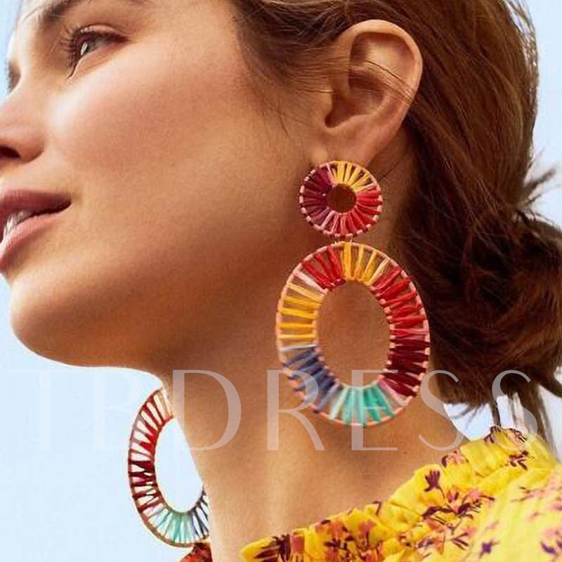 Alloy Bohemian Carving Birthday Earrings