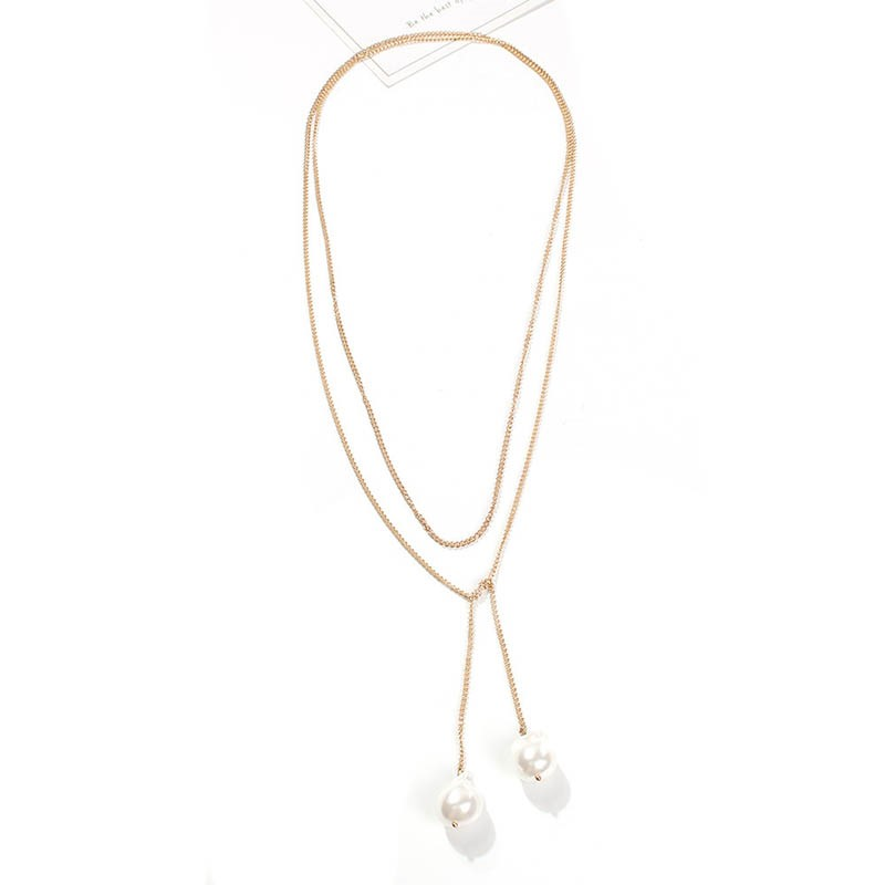 Pendant Necklace Pearl Inlaid European Female Necklaces