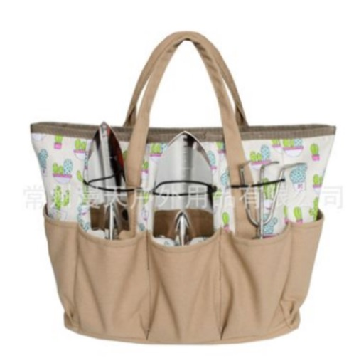 Outdoor Canvas Garden Tool Bag Multifunctional Handbag Hardware Kit Carpenter Hanging Waist Bag