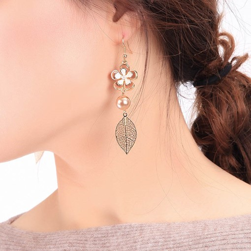 Oil Drip Alloy Floral Party Earrings