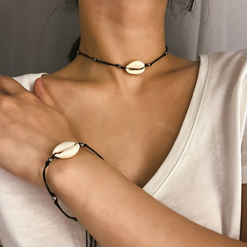 E-Plating Choker Necklace Sweet Female Necklaces
